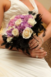Dallas Wedding Photography - wedding details with bride holding her wedding bouquet of flowers